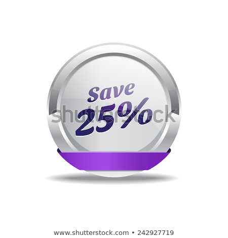 Opslaan 25 procent paars vector Stockfoto © rizwanali3d
