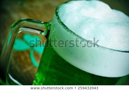Bögre festett zöld sör shamrock szent Stock fotó © nito