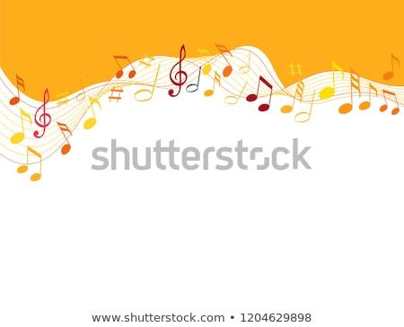 Narancs zene hullámok hangfal ház buli Stock fotó © PokerMan