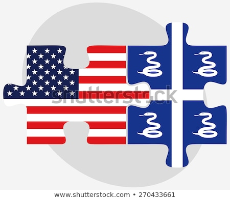 USA flagi puzzle wektora obraz odizolowany Zdjęcia stock © Istanbul2009