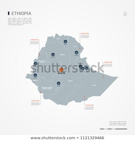 bandera · Etiopía · dibujado · a · mano · ilustración · verde · África - foto stock © mayboro