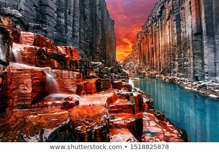 пейзаж мнение каньон небе весны фон Сток-фото © OleksandrO