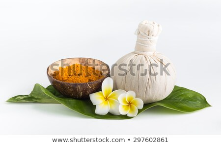 Spa theme objects with frangipani flower Stock photo © dashapetrenko