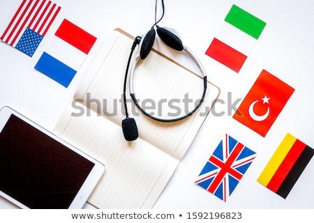 Francês linguagem ilustração menina sorrir livro Foto stock © adrenalina