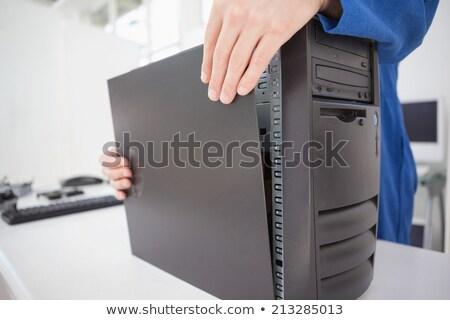 Ordenador ingeniero hasta fijado consolar oficina Foto stock © wavebreak_media