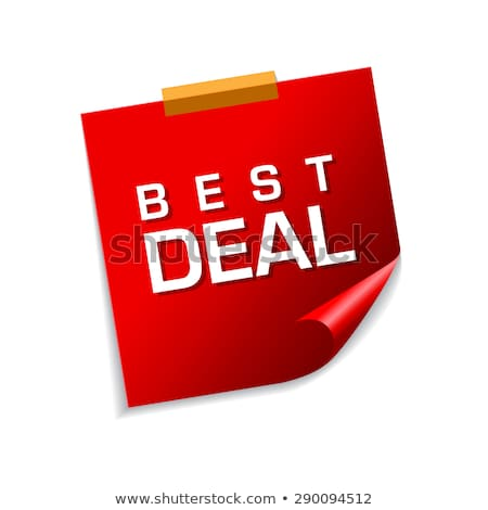 Best Deal Red Sticky Notes Vector Icon Design Stock photo © rizwanali3d