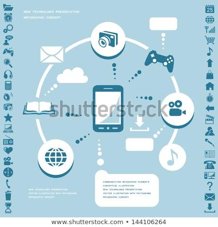 cctv · signo · azul · vector · icono · botón - foto stock © rizwanali3d