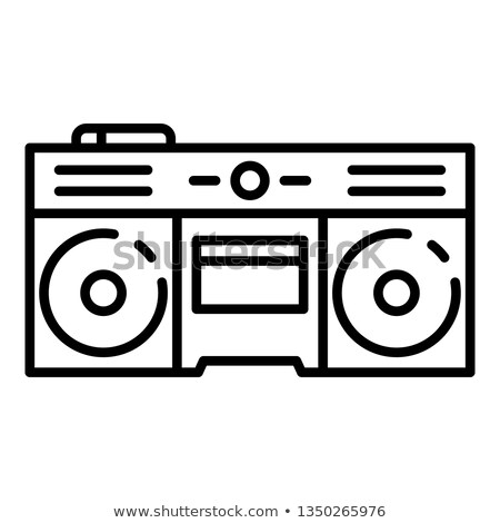 reel player deck recorder thin line icon stock photo © rastudio