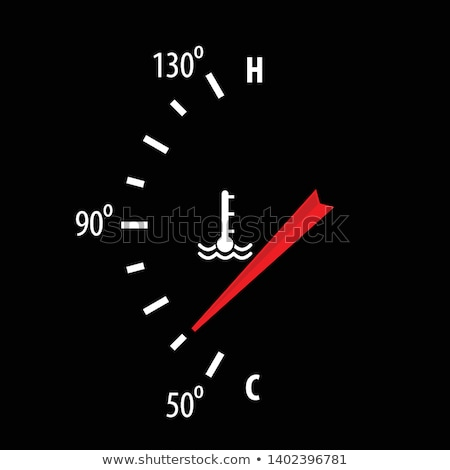 Stock photo: Motor temperature gauge of a car