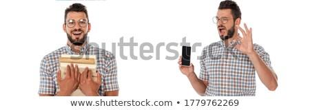 Afbeelding nerd tonen boek grijs Stockfoto © wavebreak_media