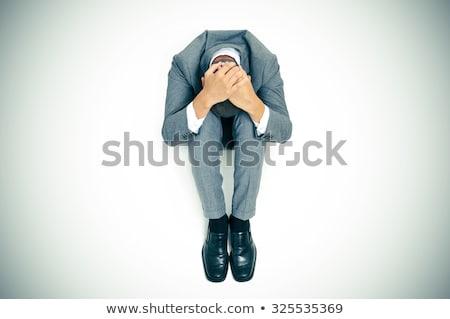 endişeli · işsiz · işadamı · oturma · uçuş · beton - stok fotoğraf © nito