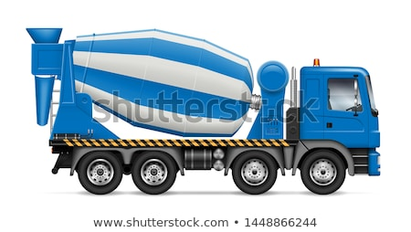 cement mixer truck isolated on white stock photo © nobilior