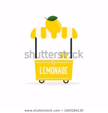 Limonádé kosár illusztráció friss gyümölcs üveg Stock fotó © adrenalina