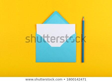 Сток-фото: синий · многие · изолированный · белый · фон · почты