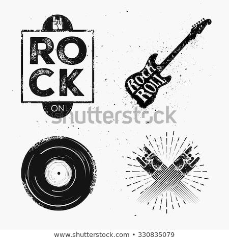 Rock Music Silhouette Record Stock photo © Bigalbaloo