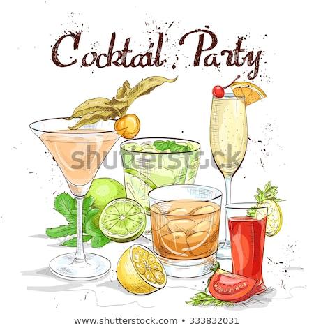 contemporâneo · coquetel · menu · modelo · projetos · cocktails - foto stock © netkov1