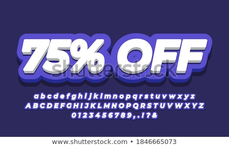 Winter Offer Violet Vector Icon Design Stock photo © rizwanali3d