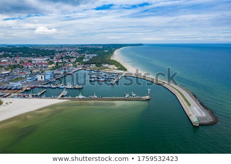 Port Pologne mer Voyage navire Europe Photo stock © phbcz