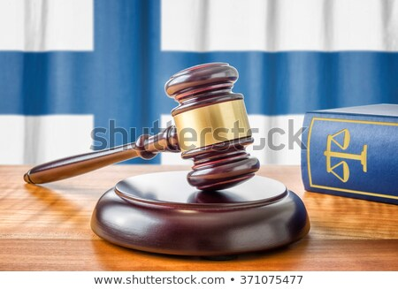 A gavel and a law book - Finland Stock photo © Zerbor