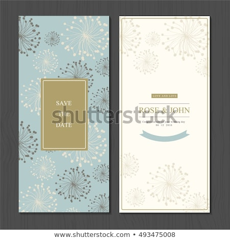 Invitation card for holiday or engaged party. Stock photo © smeagorl