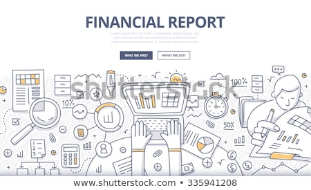 Financial Report concept with Doodle design style Stock photo © DavidArts