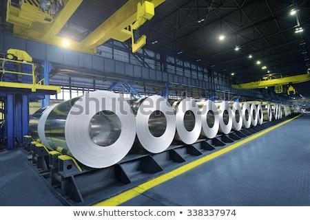 ezüst · fém · közelkép · lövés · ipar · tányér - stock fotó © mady70