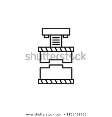 Industrielle presse machine vecteur design illustration Photo stock © RAStudio