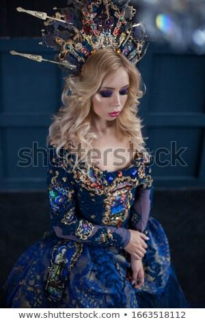 Bela mulher cosplay estilo brilhante criador cabelo Foto stock © igor_shmel
