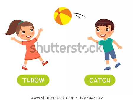 Word card throw and catch Stock photo © bluering