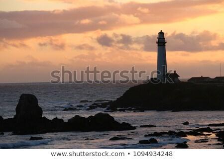 paloma · punto · faro · océano · acantilado - foto stock © yhelfman