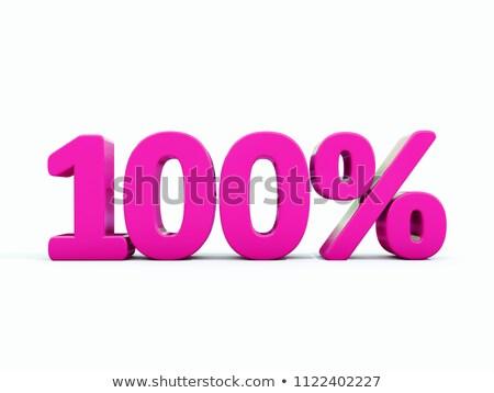 100 Percents Discount Symbol Photo stock © Supertrooper