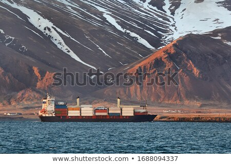 ship arrives iceland stock photo © kb-photodesign
