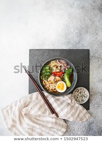 Zwarte boord eetstokjes keuken ruimte Stockfoto © vankad