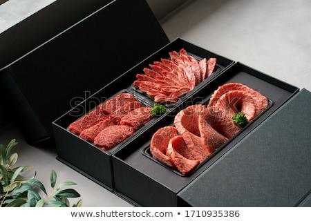 作品 · 肉 · ベーコン · ステーキ · 骨 · 孤立した - ストックフォト © bluering
