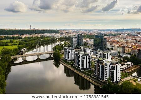 Nouvelle logement République tchèque maison construction Photo stock © phbcz