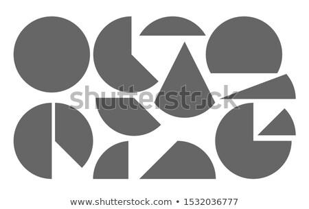 Vektor schwarz weiß Kreise Halbton Mosaik Stock foto © CreatorsClub
