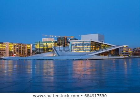 Oslo opera huis noors ballet theater Stockfoto © vladacanon