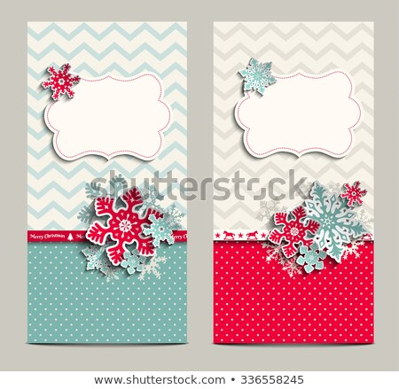 Christmas polka dot card with snowflake. EPS 10 Stock photo © beholdereye