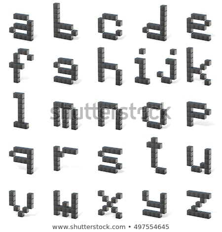 8 bit font. Lowercase letter S. 3D Stock photo © djmilic