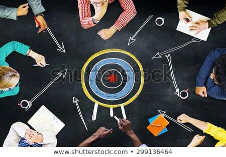Squadra obiettivo gruppo aspirazione business metafora Foto d'archivio © Lightsource