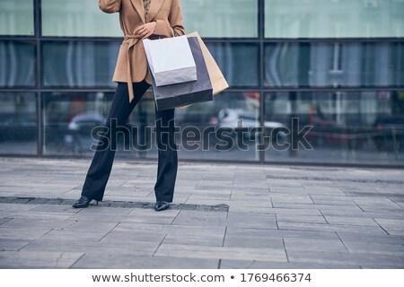 Trendy Lady Standing on Street Stock photo © vectomart