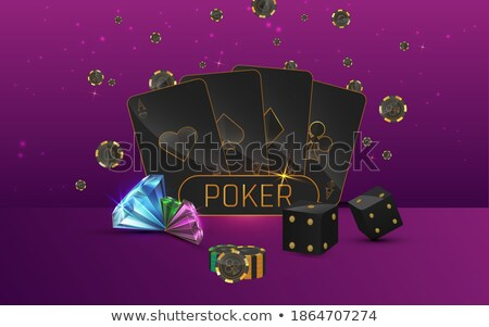 Golden coins and gemstones gambling background Stock photo © day908