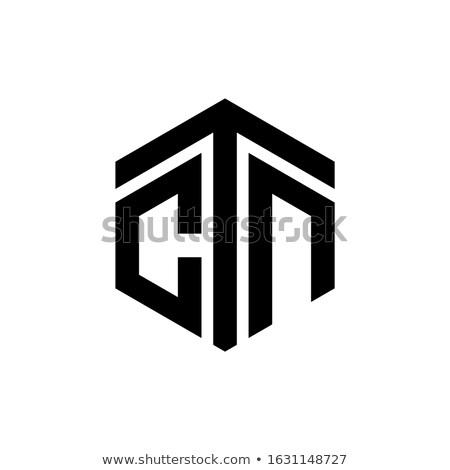 монограмма дизайна 10 веб письме промышленных Сток-фото © sdCrea
