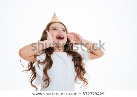 девочку · Постоянный · молодые · женщины · сообщение - Сток-фото © deandrobot