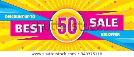 Absztrakt árengedmény nagy vásár vízszintes szalag Stock fotó © SArts