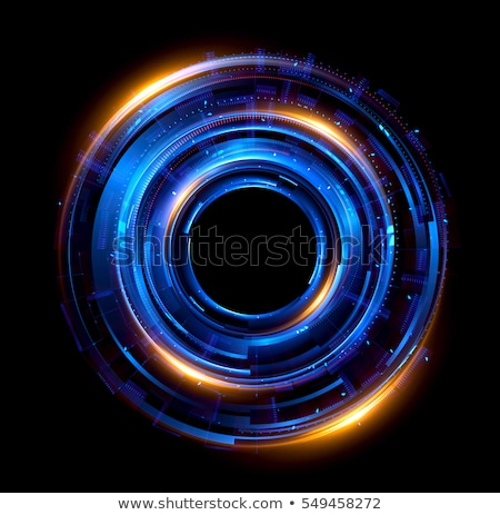 Beautiful abstract banners with light blue balls and glow Stock photo © Tefi