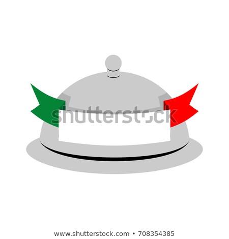 Italy dish tray sign isolated. Food Italian national cuisine log Stock photo © popaukropa