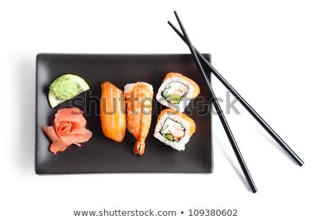 sushi · Çin · yemek · çubukları · atış · iç · pirinç · yemek - stok fotoğraf © monkey_business