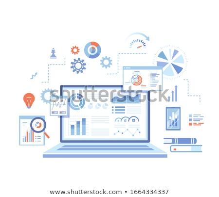 Kutatás elemzés infografika ikonok web design vonal Stock fotó © Genestro