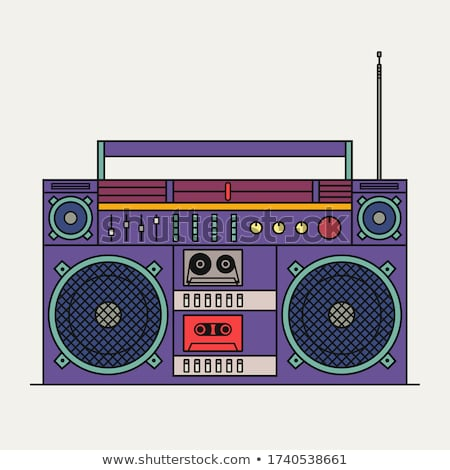 Boom box or radio cassette tape player icon  Stock photo © ylivdesign